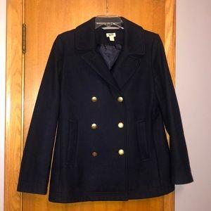 J. Crew Navy Wool Pea Coat 8